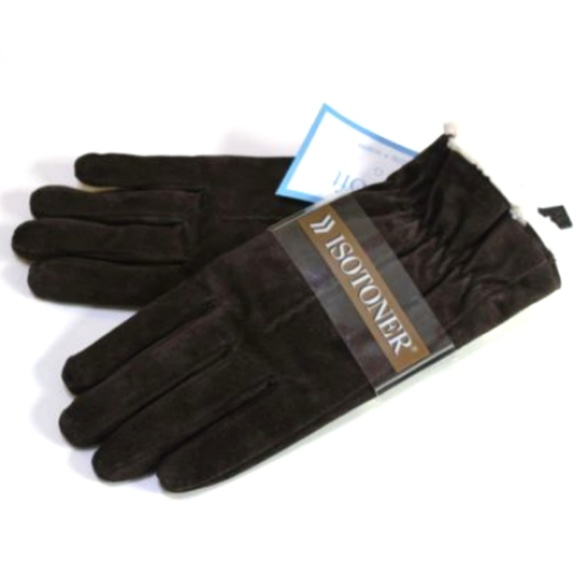 ISOTONER CASUAL GLOVES SMARTOUCH RED FLEECE LINED WOMEN/'S ONE SIZE NWT $36.00